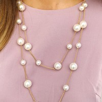 Little Luxuries Necklace: Gold/Pearl