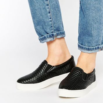 New Look Maine - Snake Quilted Point Slip On