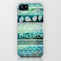 Dreamy Tribal Part VIII iPhone & iPod Case by Pom Graphic Design