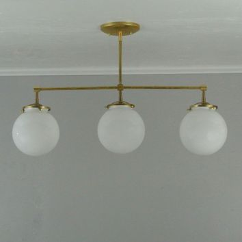 Straight Triple Globe Chandelier
