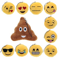 [AMAZING DEAL] Keychain Cute Emoji Smiley Emoticon Amusing Key Chain Holder Keyring Soft Toy Gift for Women Men Pendant Bag Accessory