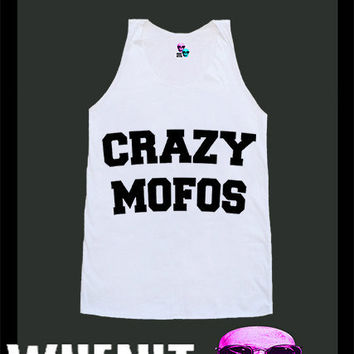 worldwide shipping just 7 days Crazy Mofos shirt singlet tank top 10371