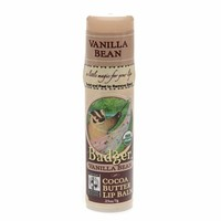 Badger Cocoa Butter Lip Balm, Vanilla Bean