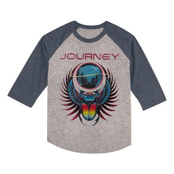 Heather Navy 'Journey' Raglan Tee - Toddler & Kids