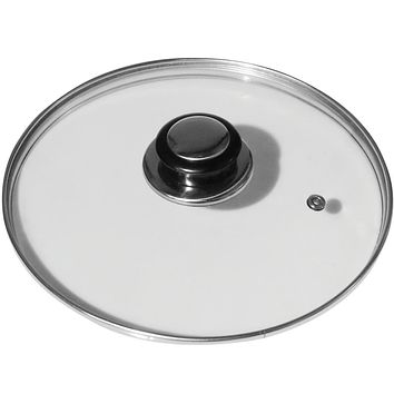 Evelots Lid for Pot & Pan-Tempered Glass-Cover-Universal-Frying Pan-Cook