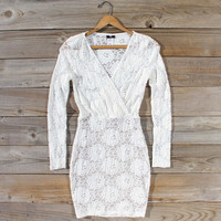 Wild Lace Dress in White