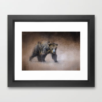 Young Grizzly Bear - Wildlife Framed Art Print by Jai Johnson