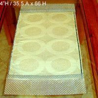 Gold geometric centerpiece 14x26 runner – Decorative table