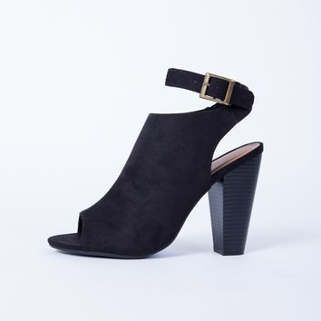 Wrap Around Buckle Heel Booties