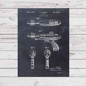 Patent Print - Raygun - Patent Art - Patent Art Print - Toy - Children's Decor - Kids Room