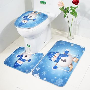 On Sale Bedroom Hot Deal Cartoons Floor Mat Christmas Set Carpet Bedding Set 45*75cm [118169665561]