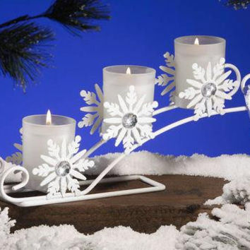 3 Votive Candles & Holder - Evergreen Fir Scented
