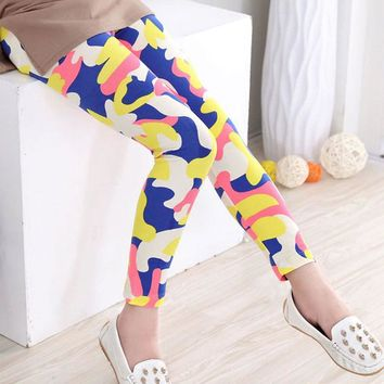 Colorful Camo Summer Leggings
