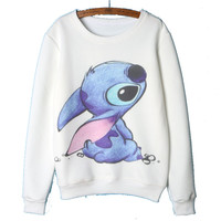 2017 Autumn Winter clothing Lilo & Stitch Hoodies Women Cartoon Printing Sweatshirts Women's Hoodies Pullovers