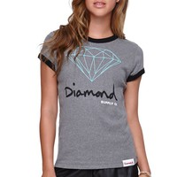 Diamond Supply Co Logo T-Shirt - Womens Tee - Grey