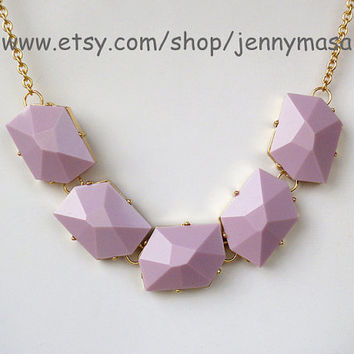 Purple Jewelry -Bubble Statement Necklace,Birthday Gift,wedding necklace,beaded jewelry,bib necklace,bridesmaid gift