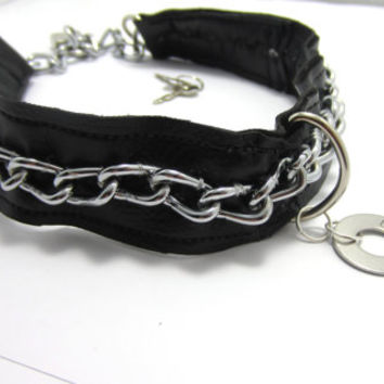 BDSM,  Slave Collar, Slave, Dominant/submissive Jewelry, Choker, Playroom Fetish wear, Hand Stamped Washer