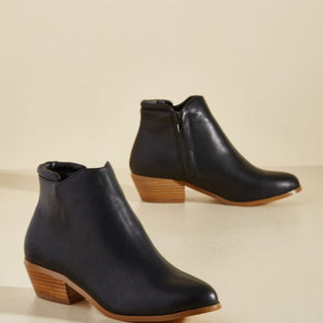 Well-Versatiled Vegan Bootie in Black | Mod Retro Vintage Boots | ModCloth.com