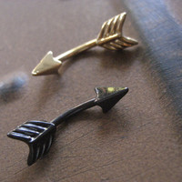 Arrow Belly Button Jewelry Ring- 14 Gauge Eyebrow Conch Snug Ear Eye Brow Piercing Navel Bar Barbell 14g G Stud