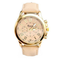 Faux Leather Analog Quartz Womens Wrist Watch