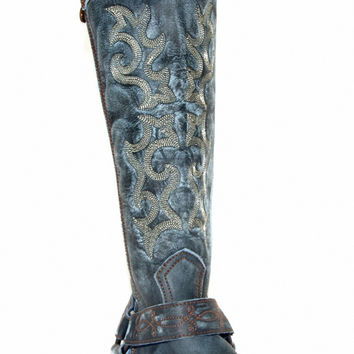 Liberty Black Vintage Azul Boot