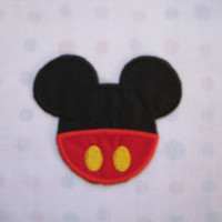 Mickey Mouse Pants and Ears Disney Iron on No Sew Embroidered Patch Applique