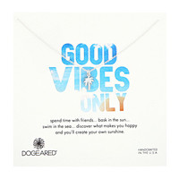 Dogeared Good Vibes Only Palm Tree Necklace Sterling Silver - Zappos.com Free Shipping BOTH Ways
