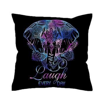 Positive Vibes Elephant Pillow Cover