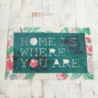 2x3 Home Is Where You Are Printed Rug