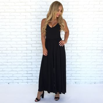 Day Trip Jumpsuit in Black