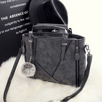 Womens Large Leather Chic Stylish Crossbody Handbag Shoulder Bag