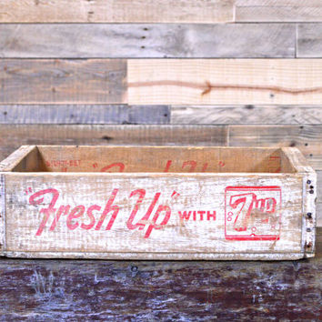 Vintage 7up Crate, Fresh Up With 7Up, 7up Box, 1960s 7Up Crate