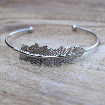 Light As a Feather Cuff - Silver