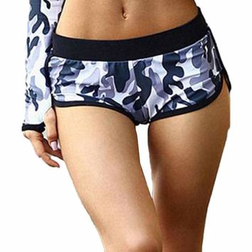 Camouflage Women Gym Compression Booty Shorts Spandex Ladies Volleyball Running lycra Athletic