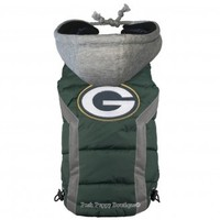 NFL Green Bay Packers Dog Puffer Vest - Sports Apparel - Licensed NFL Wear -Green Bay Packers Posh Puppy Boutique