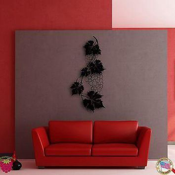 Wall Sticker Vine Wine Grape Cool Decor for Living Room or Kitchen Unique Gift z1394