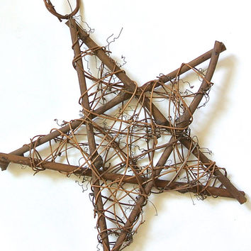 "Grapevine Star- 10"" Grapevine Star Form, Outdoor Decor, Large Grapevine Star, DIY Ornament, Rustic Wedding"