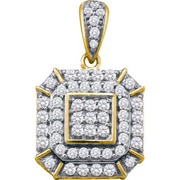 Diamond Fashion Pendant in 10k Gold 0.48 ctw