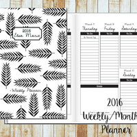 2016/2017 Weekly Planner- BW Tropical Personalized