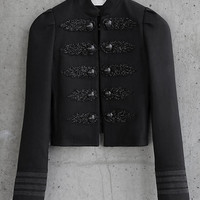 Beaded Express Edition Military Jacket from EXPRESS