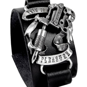 Pain Is Pleasure Leather Bracelet