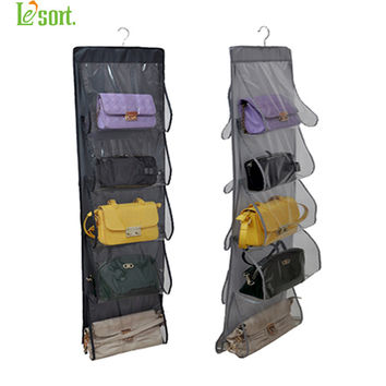 Closet Organizadores case durable door pockets fashion handbags finishing hanging bags organizer storage bag hanger