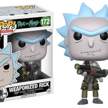 "Funko Pop Weaponized Rick  - Rick And Morty 3.75"" Vinyl Figure IN STOCK"