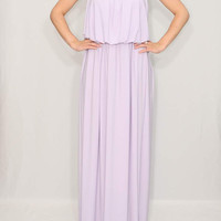 Lilac Dress Maxi Dress Summer Bridesmaid dress Lavender dress