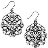 Lucky Brand Earrings, Silver-Tone Filigree Drop - Fashion Earrings - Jewelry & Watches - Macy's
