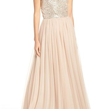 Adrianna Papell Embellished Two Piece Gown | Nordstrom