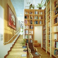 bright reading spot with a secret space under the...