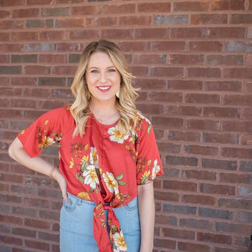 Rise Above Red Floral Top