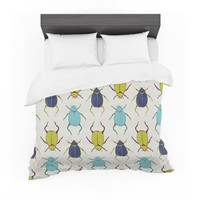 "Laurie Baars ""Beetles"" Tan Blue Cotton Duvet"