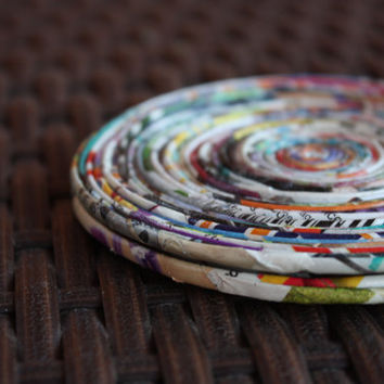 Recycled Paper Coasters - Set of 2